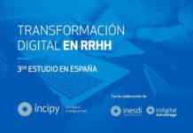 "Tercer Estudio ""Transformación Digital en los RR.HH"" (2017) Trabajo de investigación llevado a cabo por INCIPY, INESDI (Digital Business School) e Indigal Advantage,."